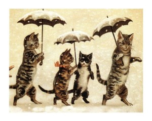 tumblr_static_cats_umbrellas_vintage_postcard_kats-in-klompen